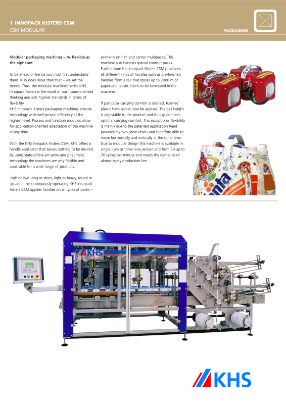 KHS – Filling and Packaging worldwide-KHS GmbH