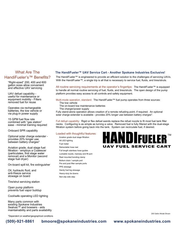 HandiFueler® UAV Fuel Cart-Spokane Industries®