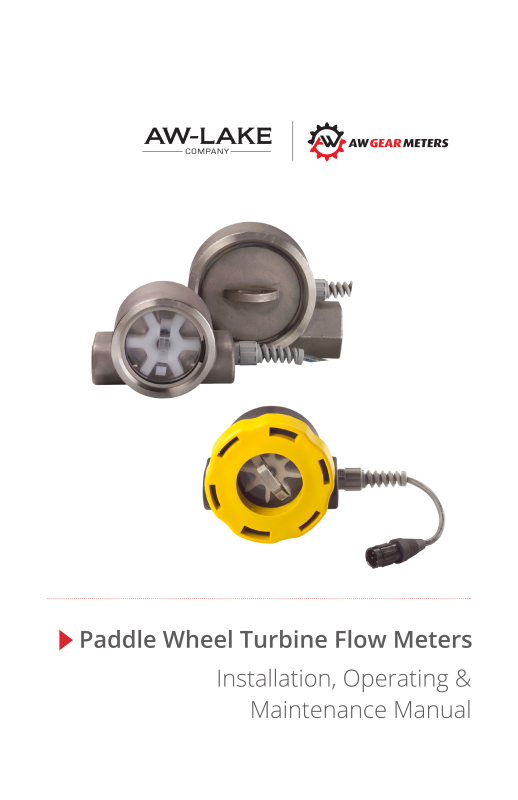 LAKE FLOWSTAT PADDLE WHEEL FLOW METER-AW- Lake Company