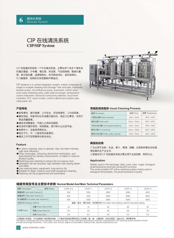 CIP System-Wenzhou Jhenten Machinery Co , Ltd
